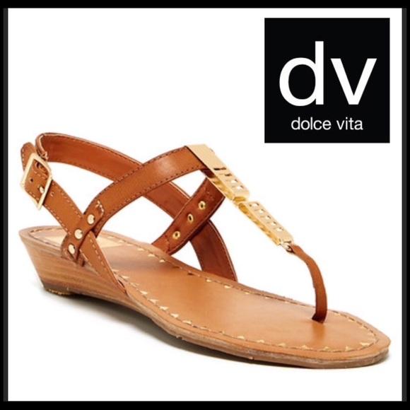 efb90c2c0a7 DV By Dolce Vita Valla Wedge Sandal Cognac NWB